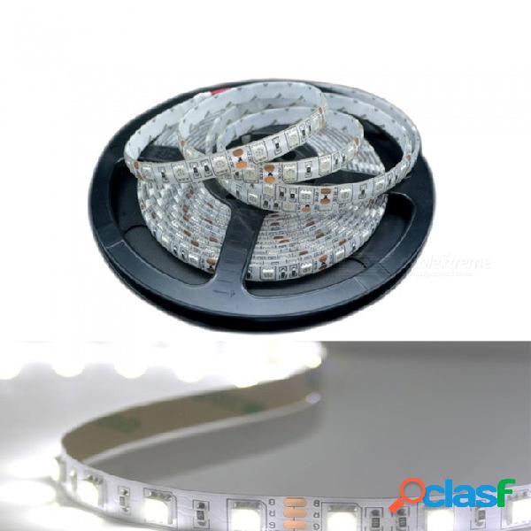Zhaoyao 5 m dc 24v no impermeable 5050smd 60 led / m tira de luz led blanca flexible para uso interior y decoración