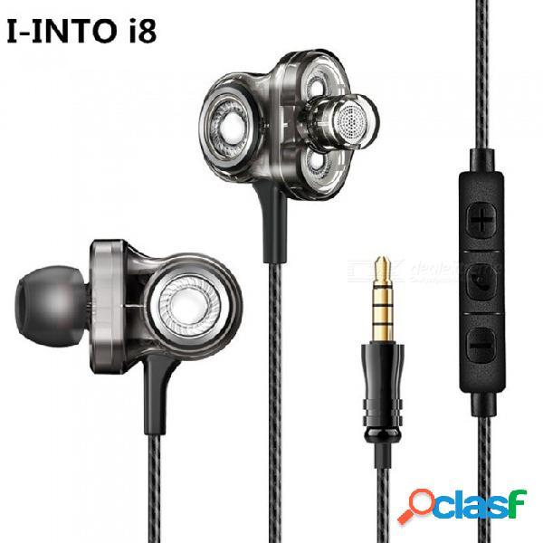 Auriculares de alta fidelidad para audífonos de alta fidelidad esamact i8 3, con audífono de 3.5mm con micrófono estéreo en el oído y estéreo rock dj.