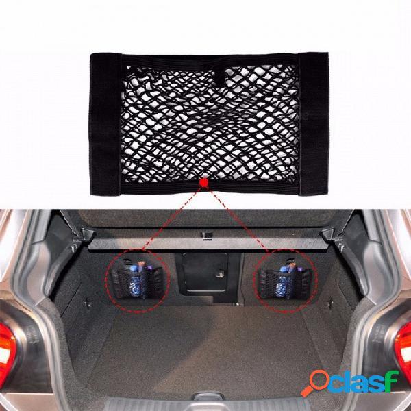 Bolsa de almacenamiento universal del maletero del coche caja de malla bolsa de red portaequipajes etiqueta de bolsillo organizador del maletero tamaño 40 cm x 25 cm negro