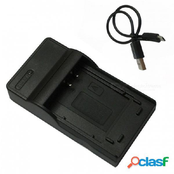 Cargador de batería de la cámara móvil ismartdigi el24 micro usb para la batería nikon 1 j5 el24 en-el24 - negro