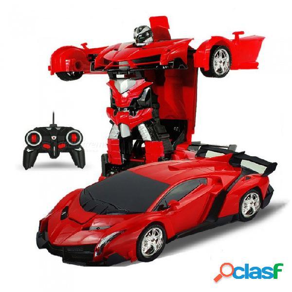 Esamact robot de transformación de automóvil deportivo modelo de control remoto deformación rc juguete de lucha, regalo de cumpleaños de los niños de los niños