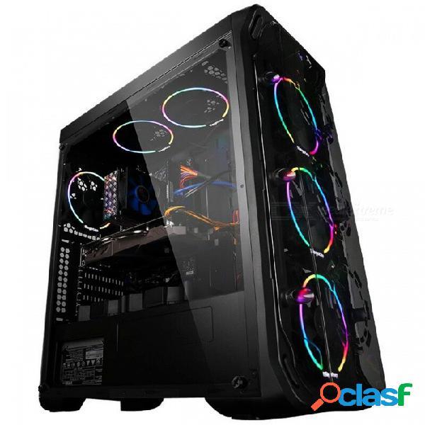 Getworth r31 computadora de refrigeración líquida de escritorio intel i7 7700k 8g ram gtx1060 wd 240g ssd win10 hogar 6 led ventiladores de refrigeración por agua pc win10 home english