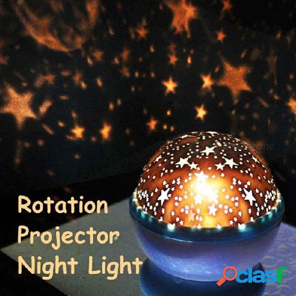 Luz de la lámpara luminosa abs rotación estrella cielo noche proyector con cable usb lámpara de decoración romántica para la habitación de los niños al azar color