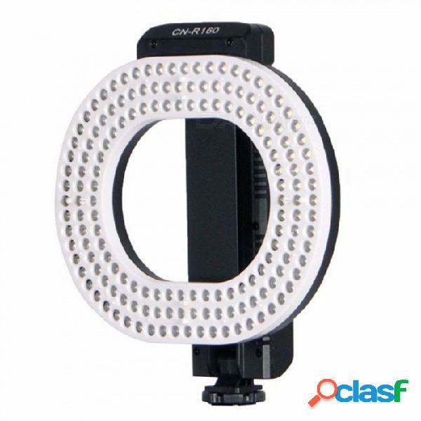 Luz de video led esamact, luz led independiente de anillo de atenuación 5600k / 3200k para cámaras canon dslr dv canon nikon