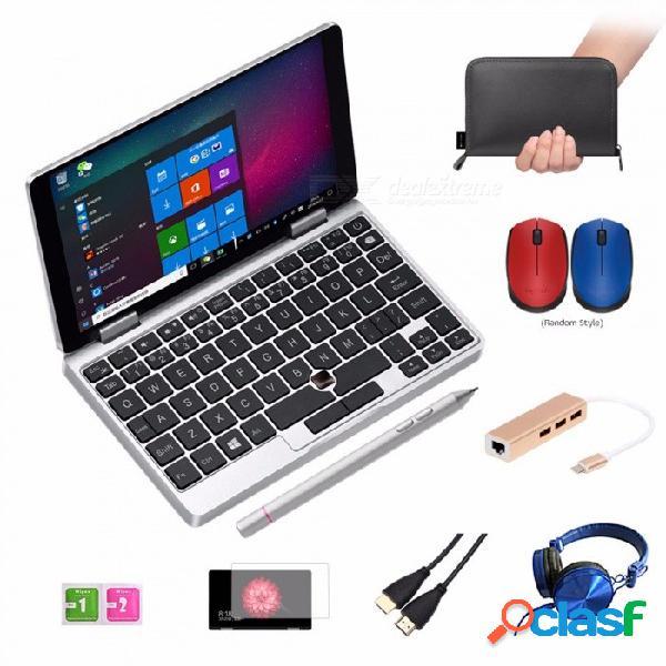"One netbook one mix laptop de bolsillo laptop 7"" ips touch screen windows 10 8gb ddr3 / 128gb emmc w / stylus silver silver"