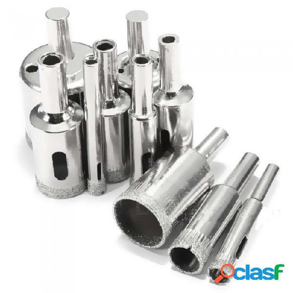 Zhaoyao 10 unids 6 ~ 30mm de cerámica de vidrio piso piso amoladora sierra agujero kit de herramientas