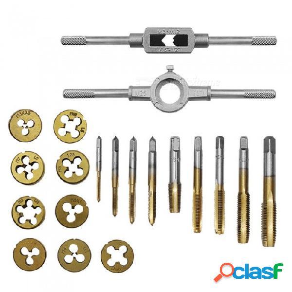 Zhaoyao 20 piezas de aleación de acero, herraje, herramienta de troquel con kit de llaves de rosca - plata