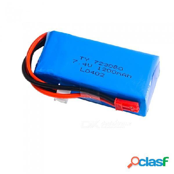 7.4v 1200mah 723060 jst plug lipo batería para wltoys v262 v333 v353b v666 q212 rc quadcopter juguetes