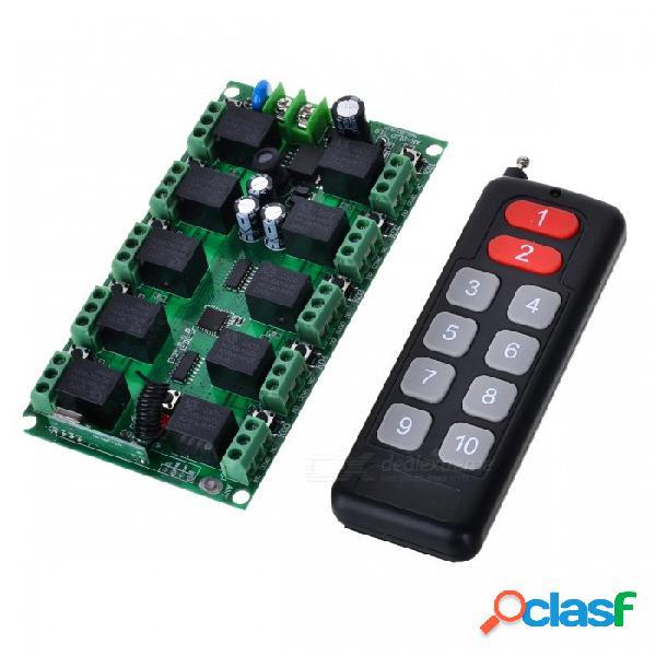 Control remoto portátil con módulo de interruptor para lámparas de 12v, puerta eléctrica, ventanas, equipo de elevación, control de acceso