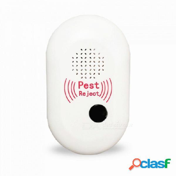 Dispositivo repelente de mosquitos electrónico ultrasónico ecológico multifuncional - blanco (enchufe de ee. uu.)