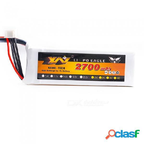 11.1v 25c 2700mah xt60 enchufe alto lipo batería para helicóptero de control remoto / quadcopter - blanco