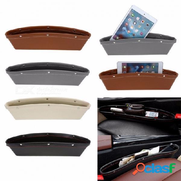 Caja de almacenamiento de cuero de pu auto organizador a prueba de fugas caja de almacenamiento a prueba de fugas caja de almacenamiento auto a prueba de fugas auto asiento de coche auto bols