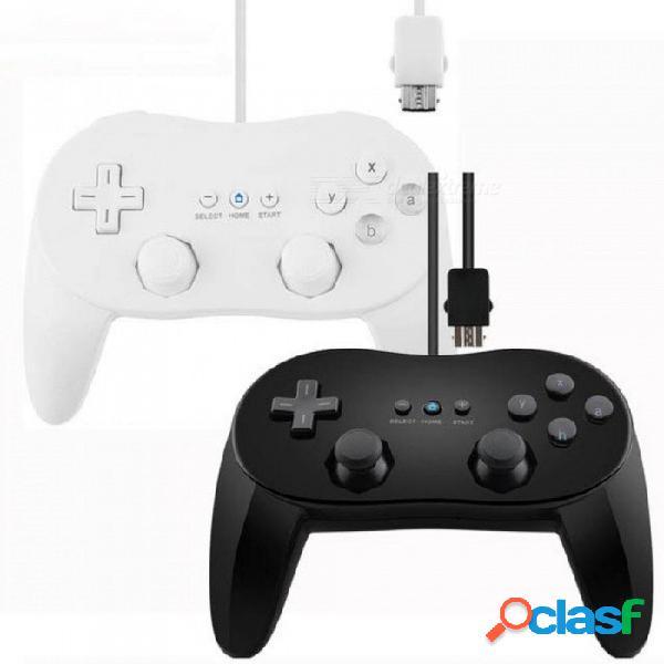 Clásico control de juego con cable analógico dual pro para nintendo wii controlador de choque remoto doble gamepad para wii accesorios del juego negro