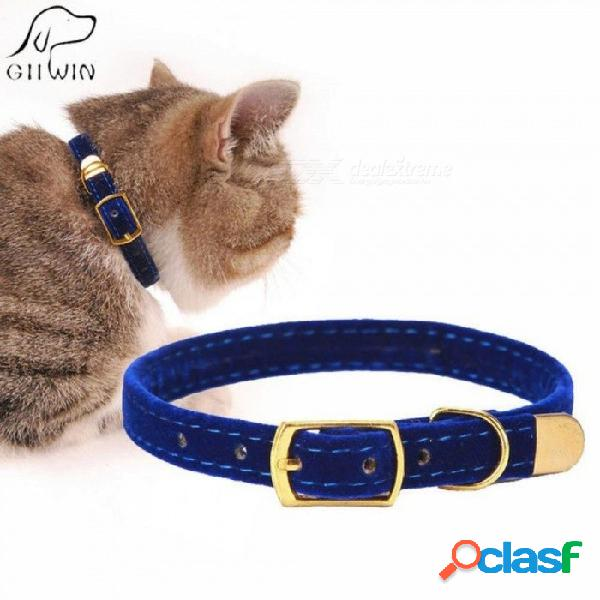 Collar de gato para perros pequeños cachorros reunidos gato cachorros collar productos para mascotas producto ajustable para gatito mascotas gatos collares s 1.0x30cm