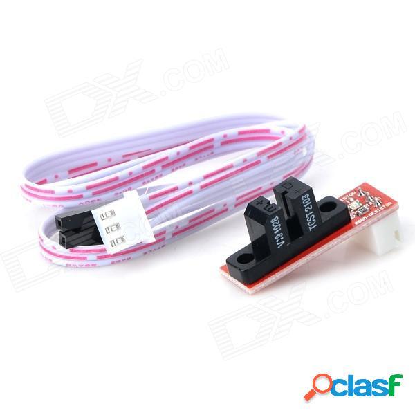 Interruptor óptico de límite de control de luz de tope óptico 020806 para impresora 3d ramps 1.4 - rojo