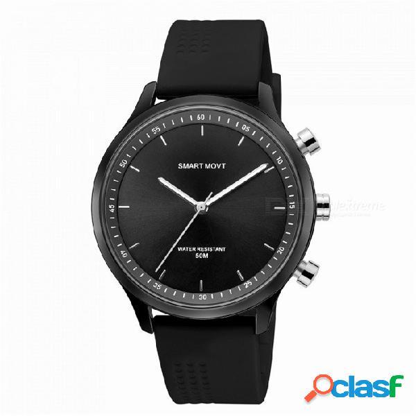 Nuevo reloj inteligente de moda de cuarzo mecánico nx05 / esfera luminosa noche / podómetro / consumo de calorías / distancia de movimiento