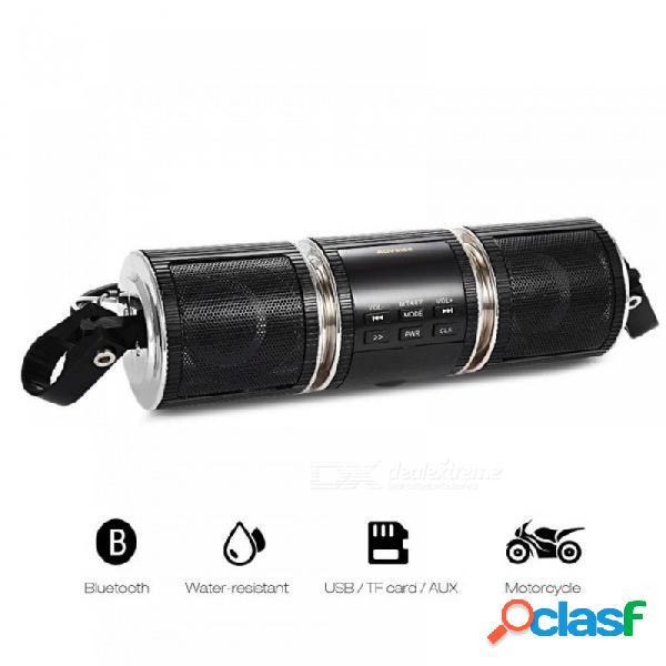 Reproductor de audio con altavoz bluetooth v2.1 + edr para motocicleta, altavoz estéreo resistente al agua, radio fm aux usb tf reproductor de mp3 negro