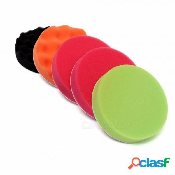 150 mm de diámetro 6 unids kit de cuidado del coche pulido esponja pulido pad disco disco de lana pulido cera kit de almohadilla de lijado para coche incoloro