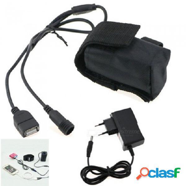 Batería recargable de ion-litio aibber tone 8.4v 6400mah 18650 con cc & puertos usb + cargador para lámpara de ciclismo led