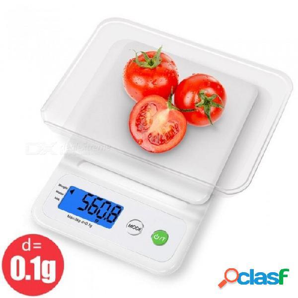 C3 báscula de cocina casera digital precisa equilibrio electrónico herramientas de medida de plástico cocina grano de alimentos pantalla lcd 3 kg / c3