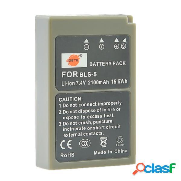 Dste 7.4v 2100mah batería de iones de litio + base de carga de enchufe de ee.uu. para cámara olympus - negro (100 ~ 240v)