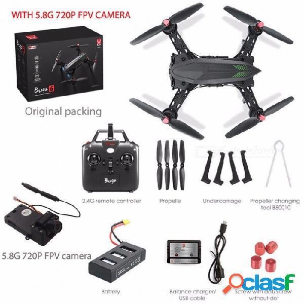 Mjx bugs 6 drone de carreras rc profesional, hd 720p 5.8g fpv y vr vidrio video quadcopter con motor sin escobillas rtf con cámara
