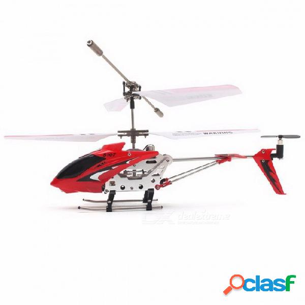 Original syma s107g aleación portátil 3ch drone helicóptero de control remoto con giroscopio, mejor regalo de juguete rtf para niños