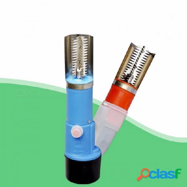 Escalador eléctrico potente de los pescados, raspador de la escala del deslagger de la piel con el plugboard incorporado de la batería de litio recargable 1500mah