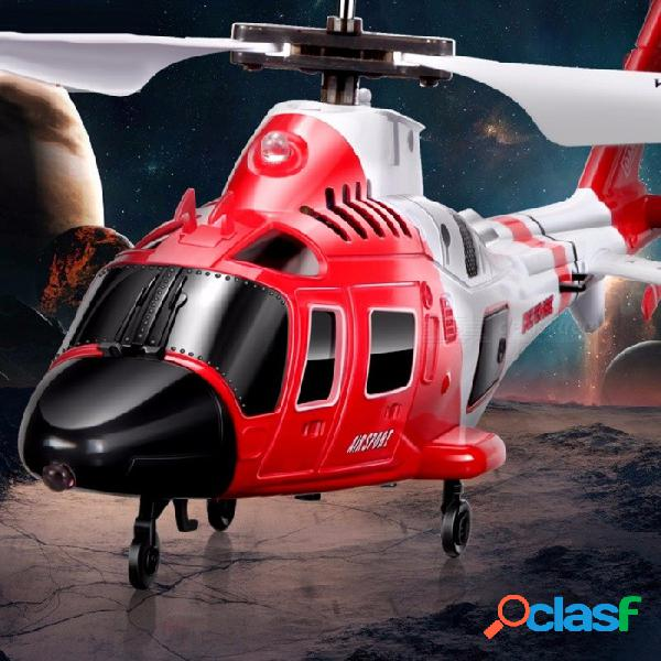 Helicóptero rc de los marines del ataque de syma s111g con la luz del led, regalo inastillable del juguete de los aviones del control fácil 3ch para los niños rojos