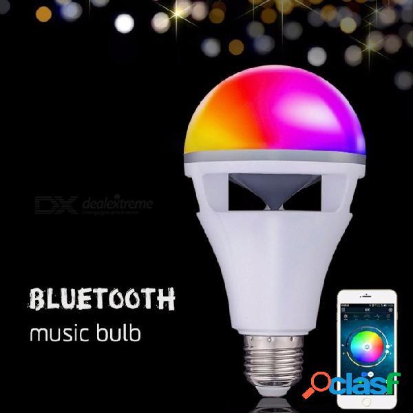 Inteligente RGB Bombilla Inalámbrica De Altavoz Bluetooth, Reproducción De Música Con Luz LED Bombilla De Luz De Lámpara Con Teléfono APP Control Remoto Blanco / E27