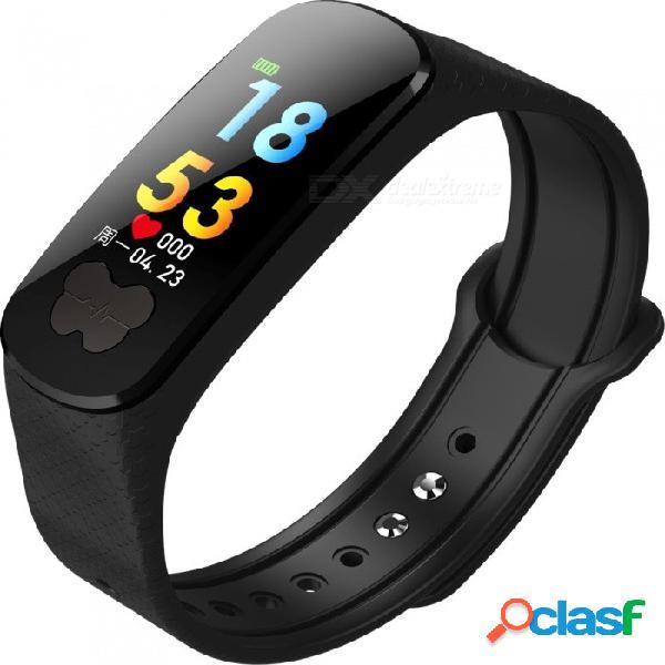 Monitor de ritmo cardíaco con pulsera inteligente con pantalla a color b37, prueba de presión arterial ecg + ppg - negro