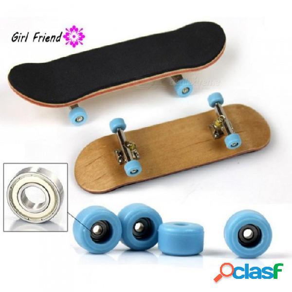 Tipo profesional rodamiento de ruedas patín de madera de arce patineta dedo aleación stent rodamiento diapasón de la rueda novedad niños juguetes de madera