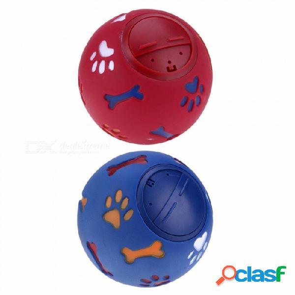 7,5 / 11 cm perro mascota juguetes fugas comida bola natural natural importado de goma dientes transparentes para morder