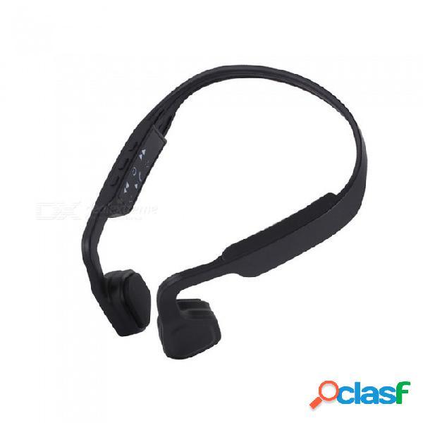 Alta calidad conducción ósea inalámbrica bluetooth 4.1 auriculares estéreo banda para el cuello con cancelación de ruido auriculares de música con micrófono negro
