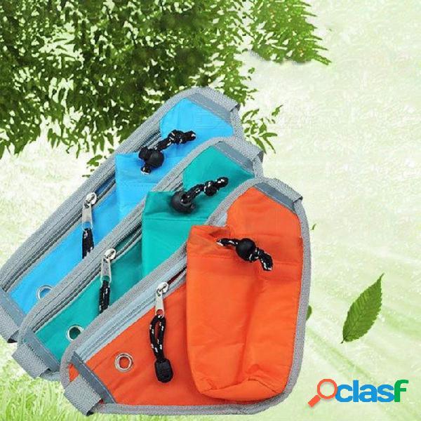 Bolso bandolera de triángulo deportivo al aire libre con bolsillo de aislamiento térmico para ciclismo, viajes, verde