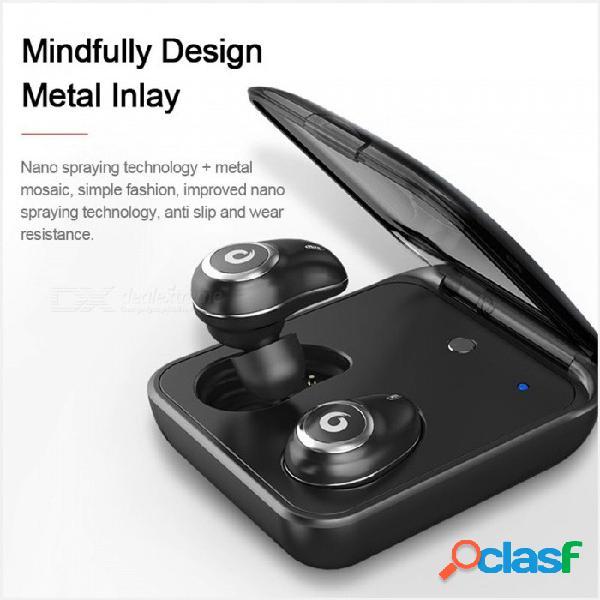 Gusgu auricular inalámbrico bluetooth control táctil bluetooth auriculares estéreo auricular en la oreja para iphone7 más negro