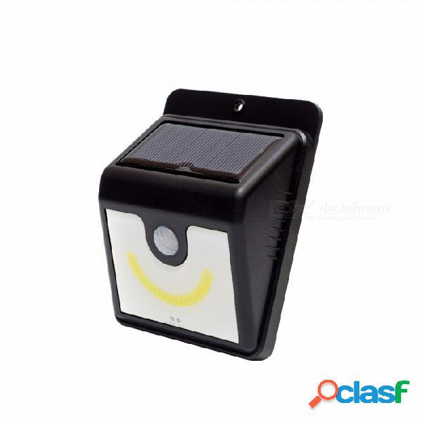 Lámpara solar de inducción infrarroja con energía solar cob, luz de porche montada en la pared para iluminación exterior blanco / 0-5w / negro