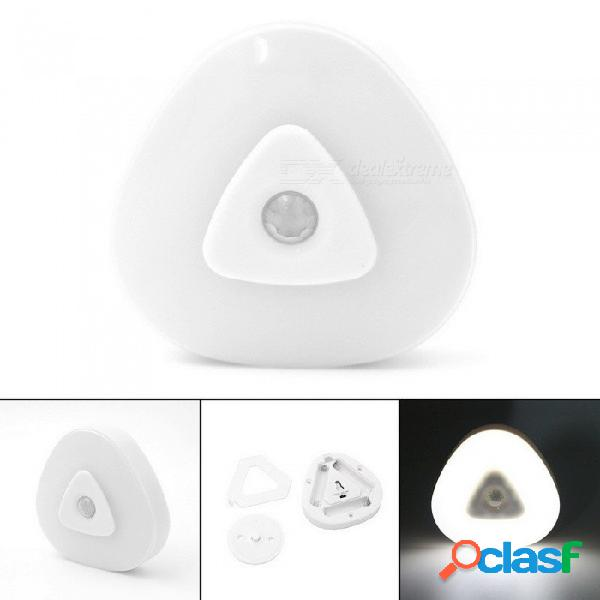 Mini linterna led cree, luz infrarroja de la noche de la inducción led del sensor del cuerpo humano para la iluminación al aire libre blanco / blanco