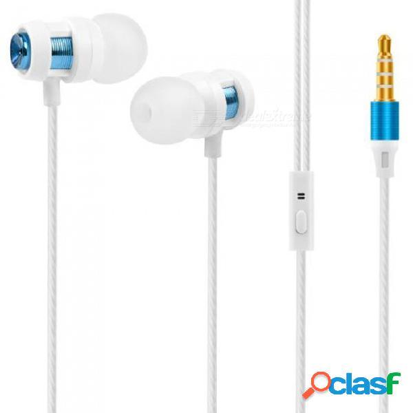 Ojade auriculares estéreo con cable para deportes con sonido estéreo de 3,5 mm para iphone, xiaomi, mp3, mp4, samsung, teléfonos ios / android