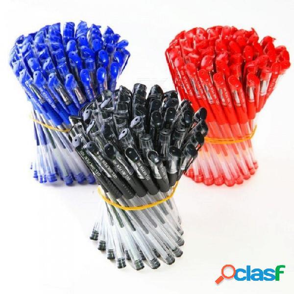 Pluma estándar europea del gel de la tienda de los efectos de escritorio 5pcs, pluma neutral negra azul roja de 0.5mm / pluma de carbono