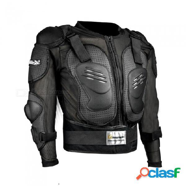 Tribu hx-p15 de manga larga, chaqueta protectora de seguridad para motocicletas al aire libre - negro