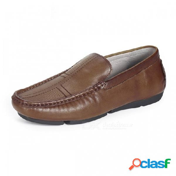 Zapatos Retro Para Hombre De Cuero Genuino Retro Zapatos Cómodos Casuales Para Hombres De Mediana Edad En Color Marrón / 45