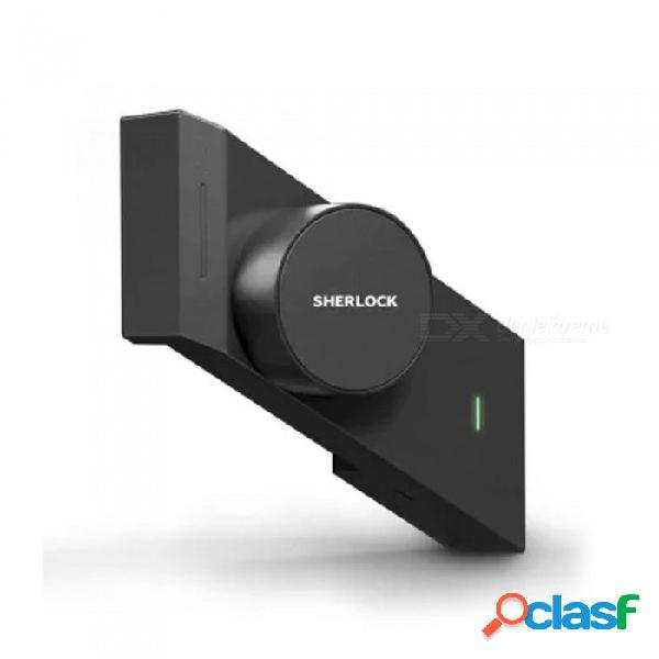 Bloqueo inteligente sherlock m1, bloqueo de control remoto mijia app para el hogar (lado izquierdo para abrir la puerta) negro
