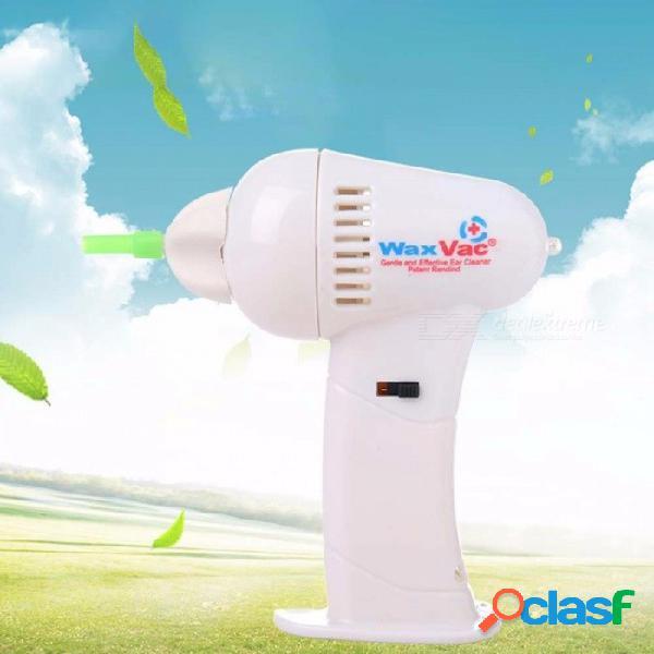 Seguridad eléctrica aspirador inalámbrico aspiración fácil herramienta de limpieza para quitar la cera limpiador de oídos eléctrico blanco