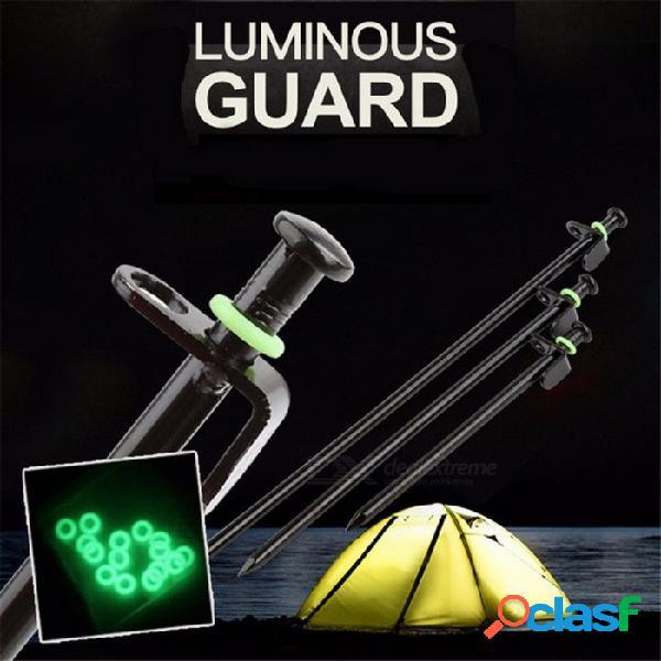 20 unids selpa herramientas de camping al aire libre uñas uñas de gel de sílice de apertura diagonal o-ring varilla de pesca edc herramientas de engranaje verde