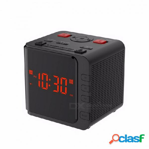 Baldr am / fm reloj de radio digital eu / ee. uu. enchufe led luz dimmer mesa snooze sleep temporizador reloj batería de reserva dual despertador negro