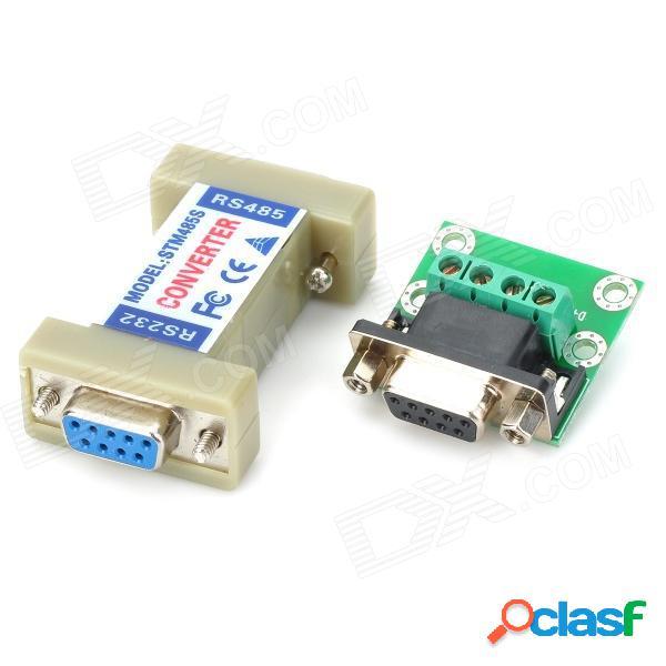 Controlador del convertidor de puerto serie del conector de comunicación rs232 a rs485 - gris + verde