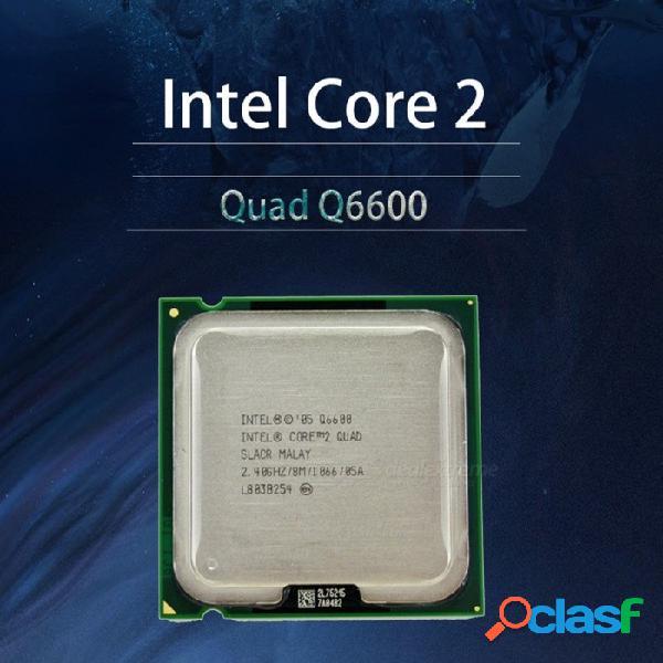Intel core 2 q6600 2.4 ghz procesador de cpu lga 775 de cuatro núcleos fsb 1066 de escritorio como la imagen