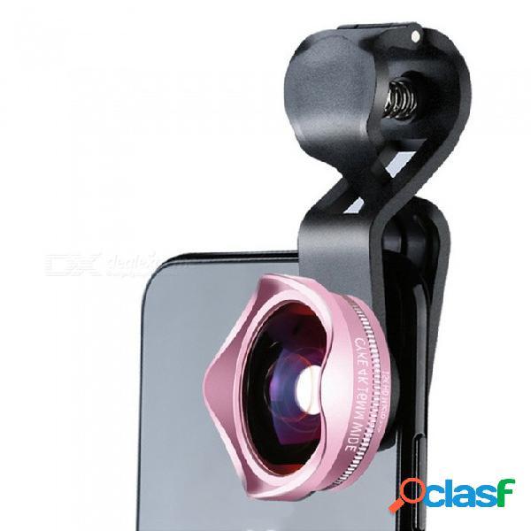 Lente externa profesional tipo clip-4k para teléfono móvil, kit de lentes macro 2 en 1 gran angular de 110 grados + 15x negro