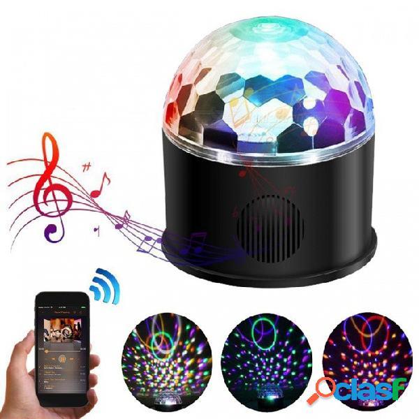 Youoklight 9 colores, control remoto, carga usb, altavoz bluetooth bluetooth, rgb bola de cristal mágica ktv fiesta de discoteca luz estroboscópica